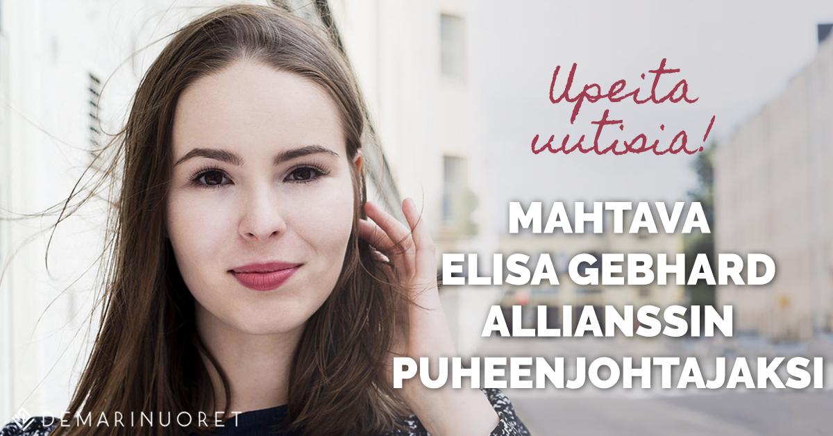 Elisa Gebhard jatkaa Allianssin puheenjohtana