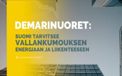 Demarinuoret: Suomi tarvitsee vallankumouksen – Energiaan ja liikenteeseen