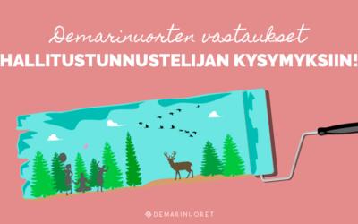 Demarinuoret vastasivat hallitustunnustelija Antti Rinteelle