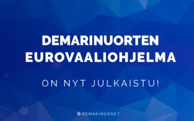 Demarinuorten eurovaaliohjelma on julkaistu!