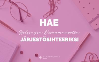 Helsingin Demarinuoret etsii järjestösihteeriä!