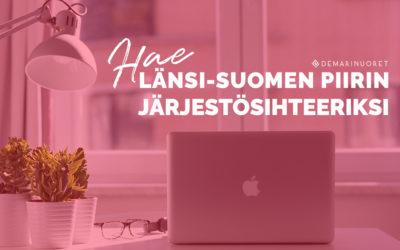 Hakuaikaa jatkettu! Demarinuoret etsii järjestösihteeriä Länsi-Suomen piiriin