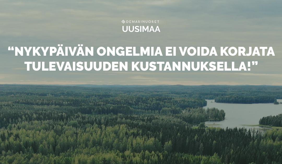 """Uudenmaan Demarinuoret ärähtää  """"Pääministeri Rinne, älä varasta eläkkeitämme!"""""""