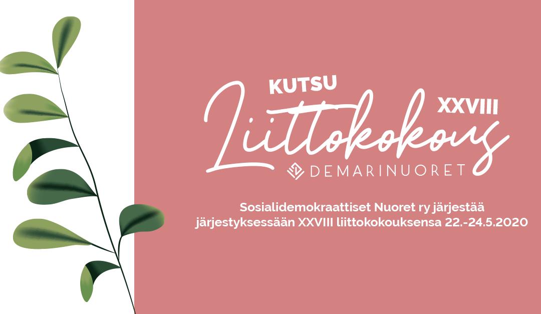 Sosialidemokraattiset Nuoret ry XXVIII liittokokous 22.-24.5.2020