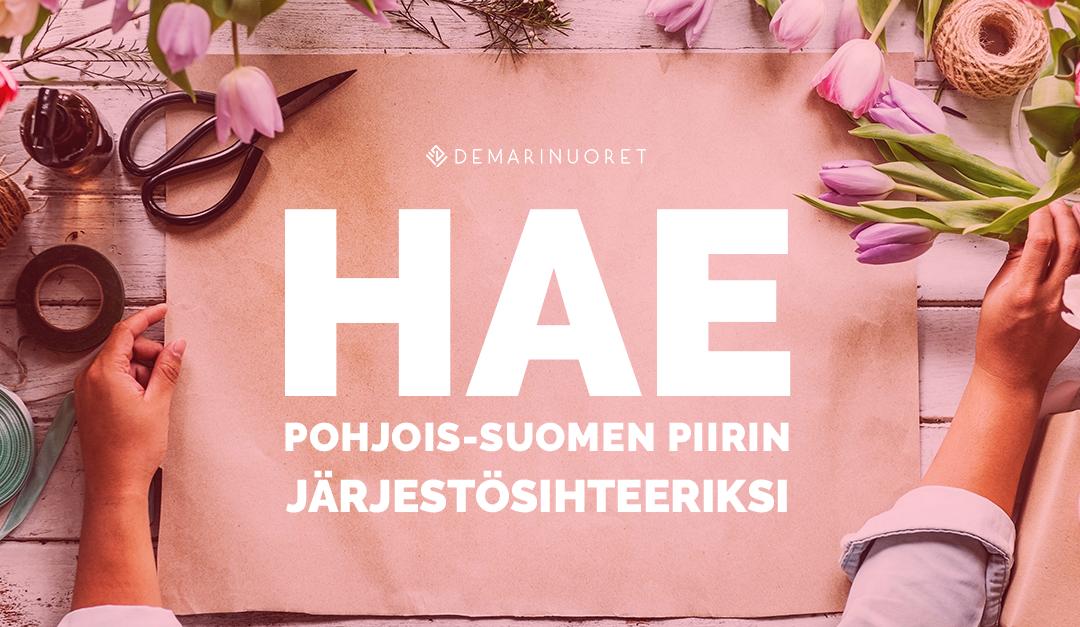 Demarinuoret hakee järjestösihteeriä Pohjois-Suomen piiriin!