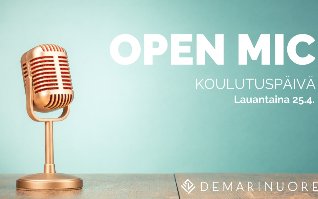 Tule kouluttajaksi Demarinuorten open mic-koulutuspäivään!