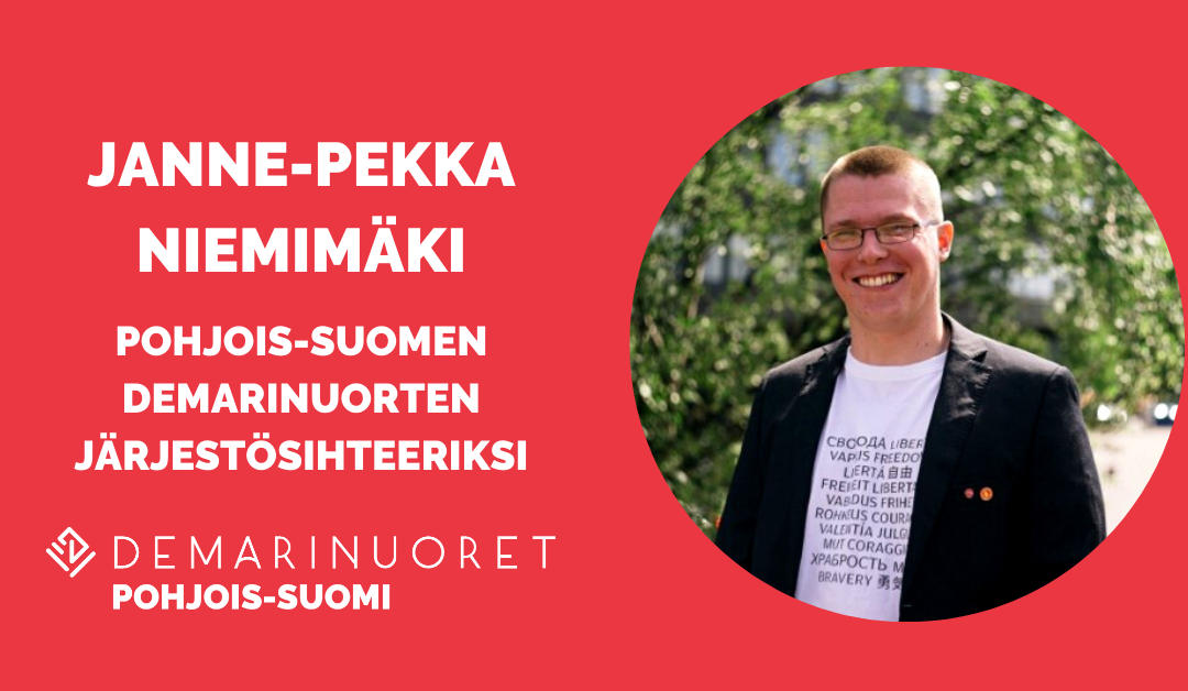Janne-Pekka Niemimäki Pohjois-Suomen Demarinuorten järjestösihteeriksi