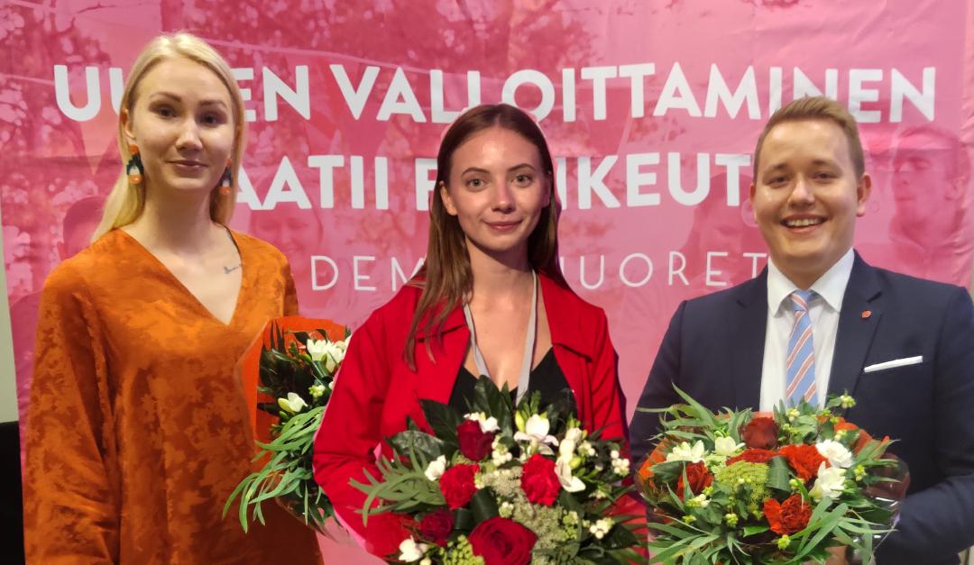 Viivu Seila ja Kimi Uosukainen Demarinuorten uusiksi varapuheenjohtajiksi