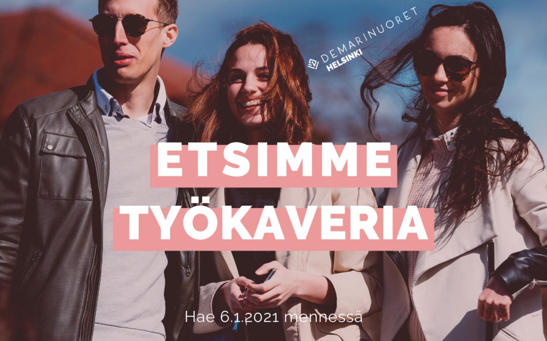Helsingin Sosialidemokraattinen nuorisopiiri ry etsii järjestösihteeriä toistaiseksi voimassaolevaan työsuhteeseen