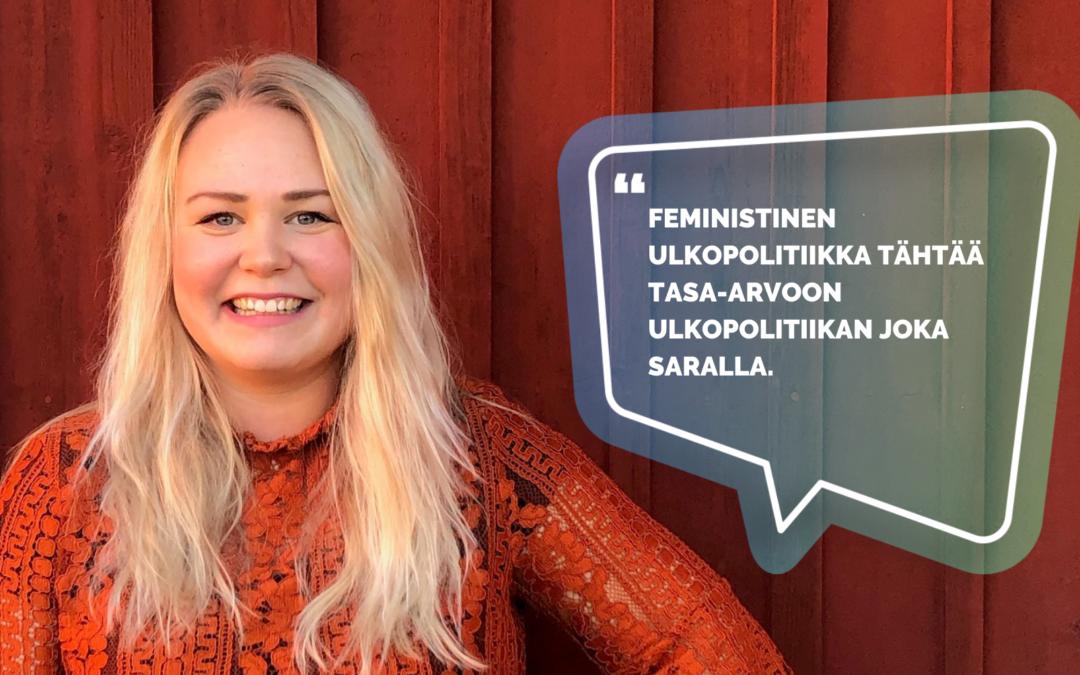 Mitä on feministinen ulkopolitiikka?