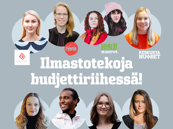 Hallituspuolueiden nuoriso- ja opiskelijajärjestöt: Ilmastotekoja budjettiriihessä!
